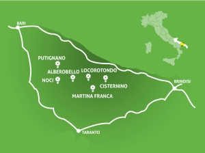 Valle d'Itria - mappa